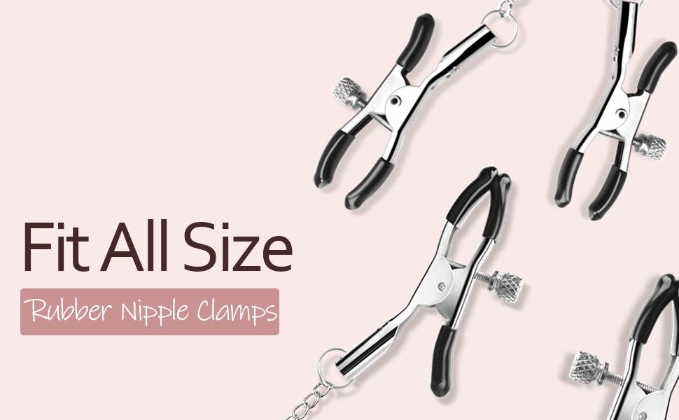 nipple clamps sm bondage restraint sex toys