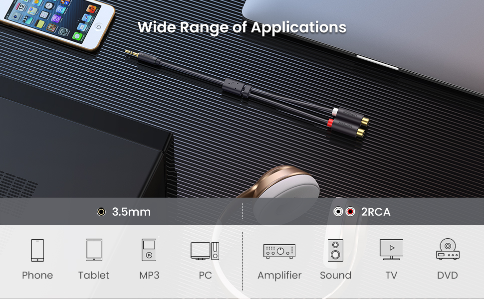 Audio Cable Y Adapter