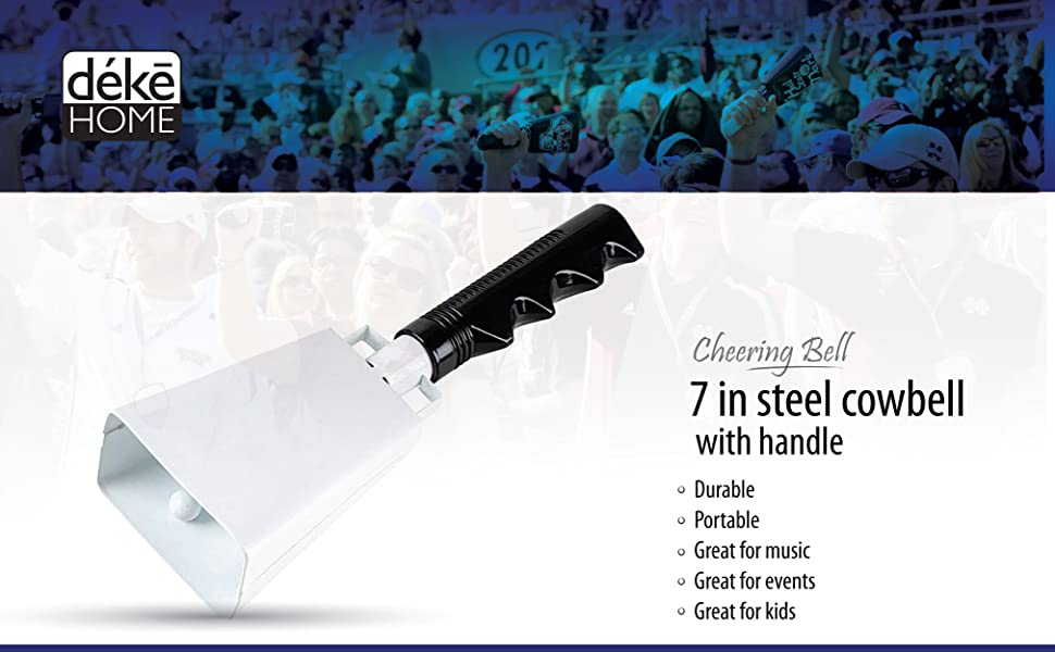 7 in steel cowbell Noise makers handle Cheering Bell sporting football game event solid hand bells