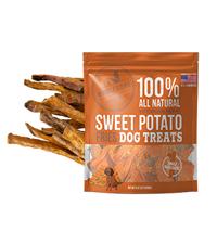 wholesome pride, sweet potato chews, healthy dog treats, gluten free dog treats, vegan dog treats