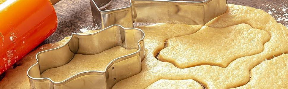 Baking cutters cookie bakerpan cutter dough flour