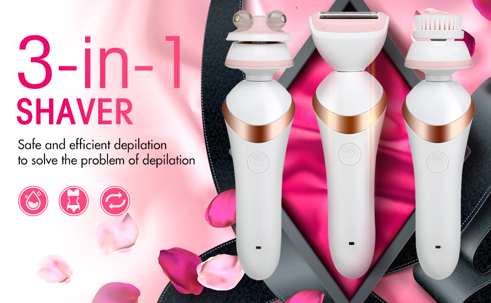 Electric razor for women