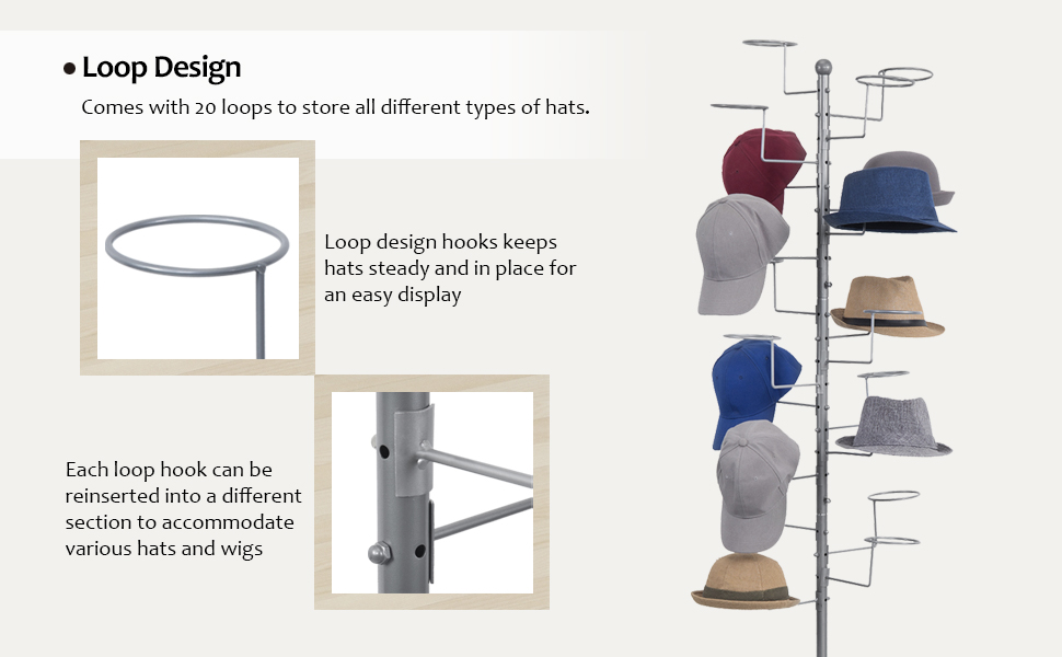 Sports//Baseball Cap Storage Organizer Hat-Display Holder Wigs Stand Hanger Rack