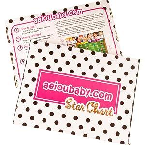 aeioubaby leksaker baby barn småbarnsleksaker lärande utbildning Belöningstavlan gâva presentlåda