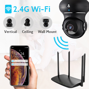 2.4Ghz  indoor wifi camera