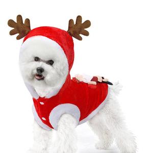 Eastlion Ropa de Navidad para Mascotas de Invierno Disfraz de Fiesta de Perro Ropa con Capucha Chaqueta de Perro,Rojo,XS