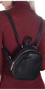 Vegan Leather Small Crossbody Bag or Wristlet Clutch Purse, Includes Adjustable Shoulder Wrist Strap