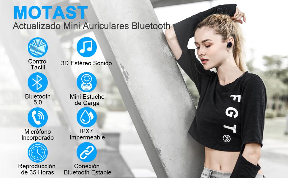 Motast Auriculares Bluetooth