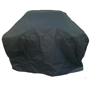 Charles Bentley Universal Waterproof Gas Charcoal BBQ Cover Large 4-5 Burner - Black
