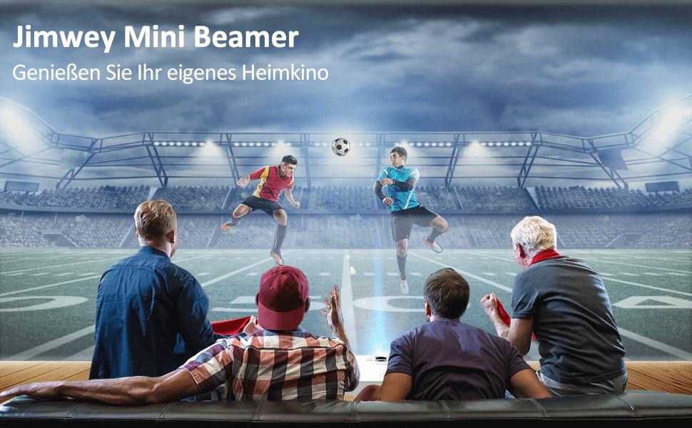 Jimwey Beamer Projektor Heimkino