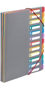 Trieur A4, Trieur extensible, Trieur plastique, Trieur courrier, Trieur 8 compartiments, Viquel