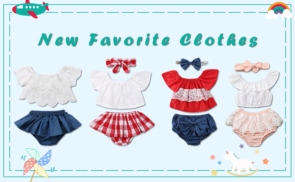 Baby Girl Short Set Off Shoulder Tube Tops Plaid Checked Short Clothes Outfit Set