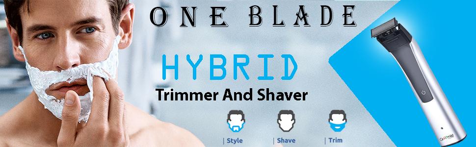 One blade trimmer, shaver, trimmer, hybrid trimmer, hybrid shaver, one blade shaver, one blade razor