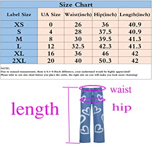 size chart of blue color