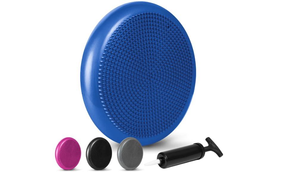 LOMOS Cuscino propriocettivo ergonomico con Pompa d/'Aria Diametro 33/cm
