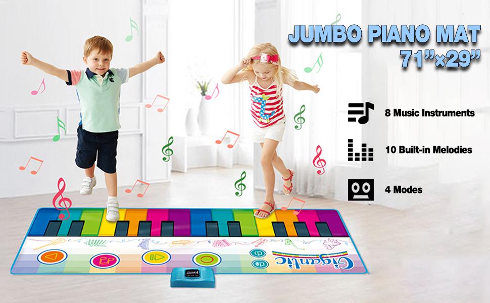 jumbo size floor piano mat for kids