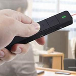 Télécommande de présentation Powerpoint à Pointeur laser August LP210 blanc avec batterie