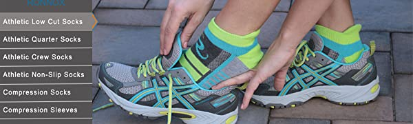 Ronnox Men's 12-Pairs Low Cut Running & Athletic Performance Tab Socks