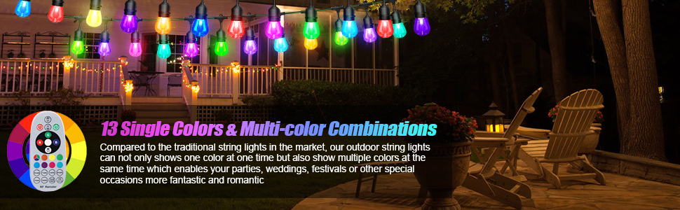 edison bulb string lights outdoor