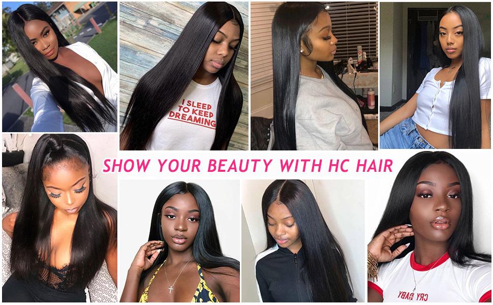 HC HAIR Human Hair Wigs for Women