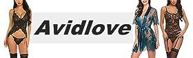 Avidlove Women Garter Lingerie Sexy Lingerie Set