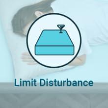 minimal motion transfer limit disturbance
