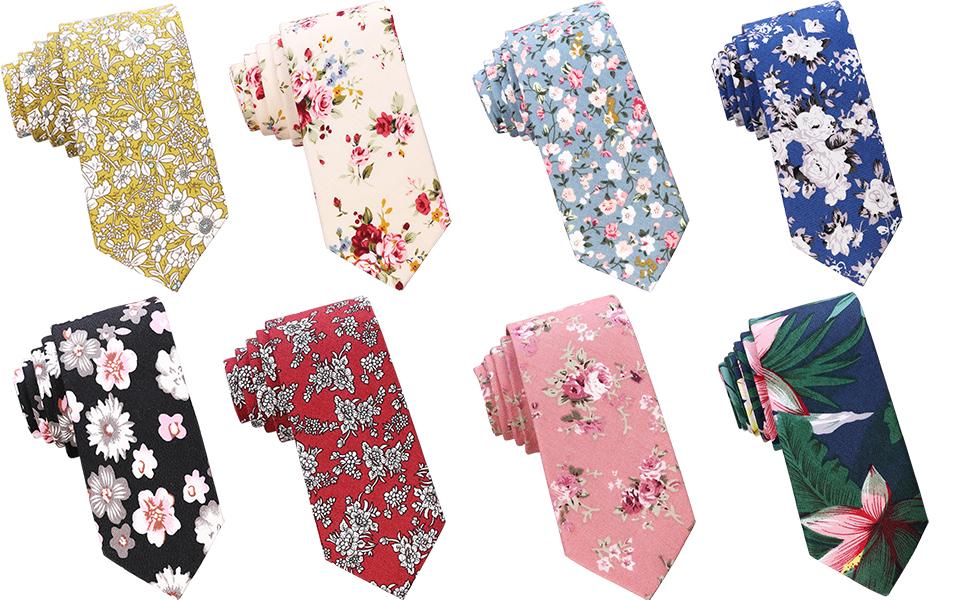Floral Skinny Tie Mens Skinny Tie Red Floral Necktie Mens Floral tie Mens Tie Neckties Floral Tie