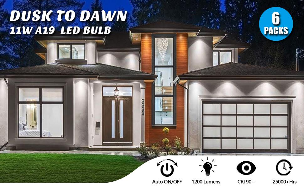 Brightever 11W dusk to Dawn LED Bulbs