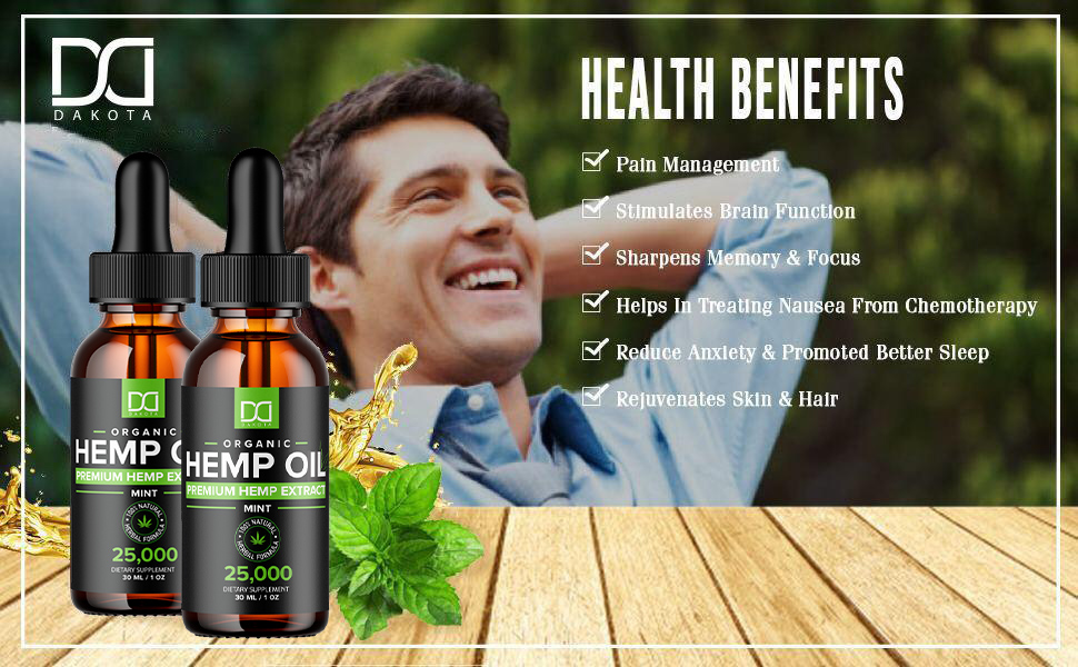 Pure hemp oil works to improve eyes, skin, hair inflammation muscle soreness bones and joints