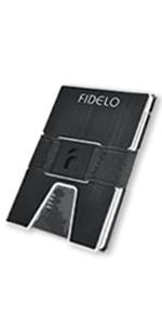 fidelo minimalist wallet for men best aluminum slim rfid thin metal credit card holder money clip