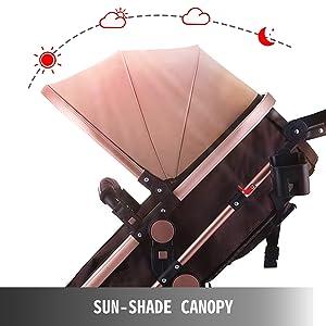 6 - VEVOR Baby Stroller 2 In 1 Stroller Bassinet Stroller Foldable Anti-Shock Newborn Stroller Baby Carriage Stroller Luxury Baby Trend Stroller Stroller For Baby Pram Stroller