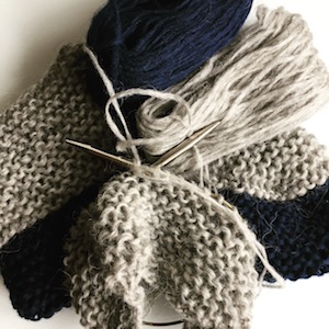Handmade hand knitted wool slipper socks from pure Icelandic sheep wool