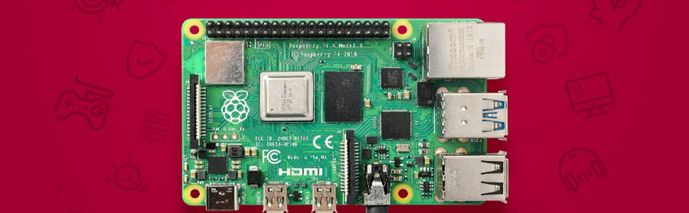 LABISTS Raspberry Pi 4 Model B Kit de 4 GB con SD de 32GB Clase 10 ...
