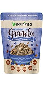 Blueberry Almond Keto Granola
