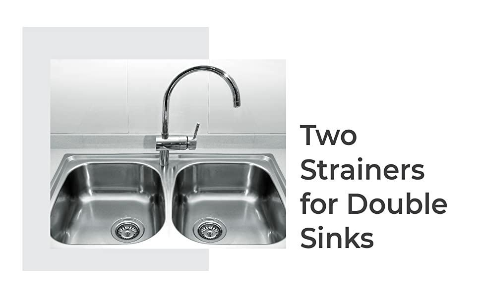 two strainers for double sinks