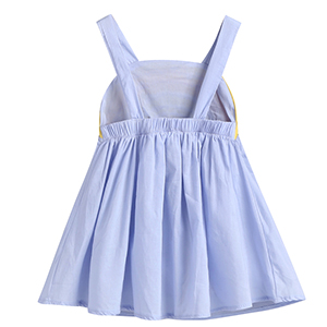 Baby Girl Clothes Cartoon Rainbow Printed Sleeveless Halter Dress Cute a-Line Sundress