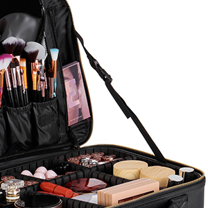 large makeup bag with mirror