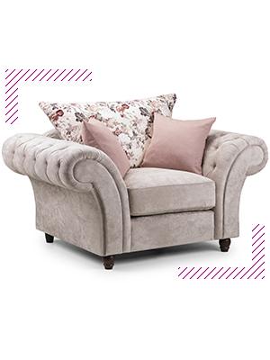sofa bed grey black corner leather crushed  velvet large storage honeypot  silver double 2 3 seater