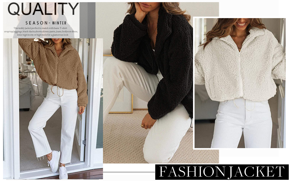 Casual Fuzzy Fleece Double Breasted Open Front Button Cardigan Jacket Coat Outwear