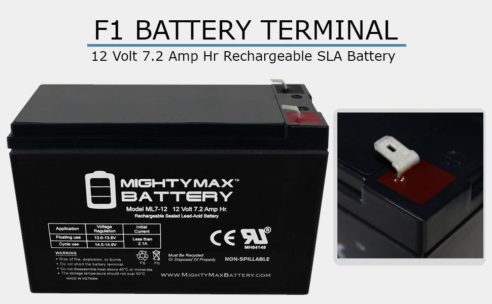 12V Battery For Kids Ride On Car 12 Volt Battery Power Wheels 12V 7 Amp Hr Black