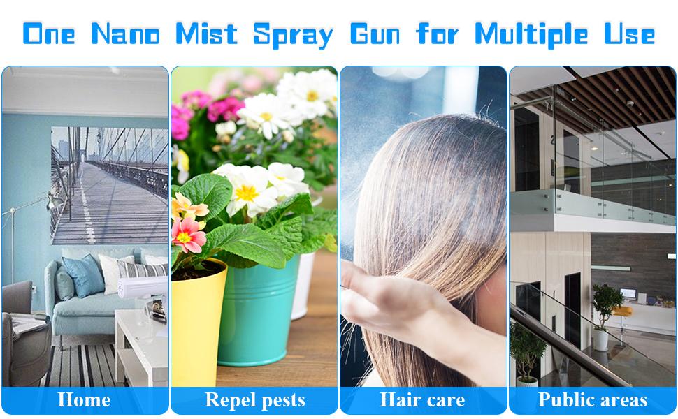 Nano mist spray gun