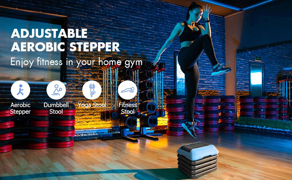 adjustable aerobic stepper