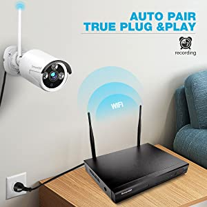 True Plug & Play and Auto-Pair ! Easiest Wireless Security System !