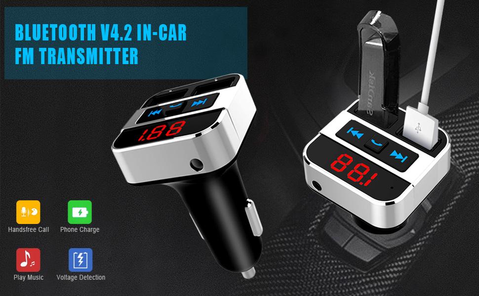 Bluetooth 4.2 Car FM Transmitter