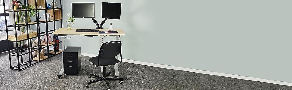 MDF Desktop or Tabletop Only, Matching with Electric Adjustable Standing Desk Frame