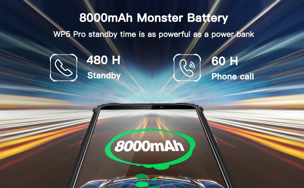 8000mAh battery