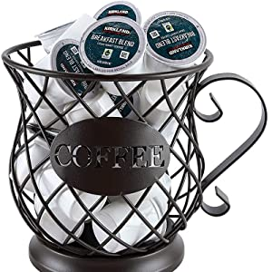 K Cup Coffee Storage Basket for Home Cafe Hotel (L Size)