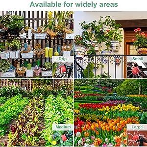 Sistema de riego de jardín, Emooqi 90 Pcs Goteros para Equipos de Riego Automático, Accesorios para Riego por Goteo Sistema de Riego DIY para Irrigación Riego para Jardín, Plantas de Patio -