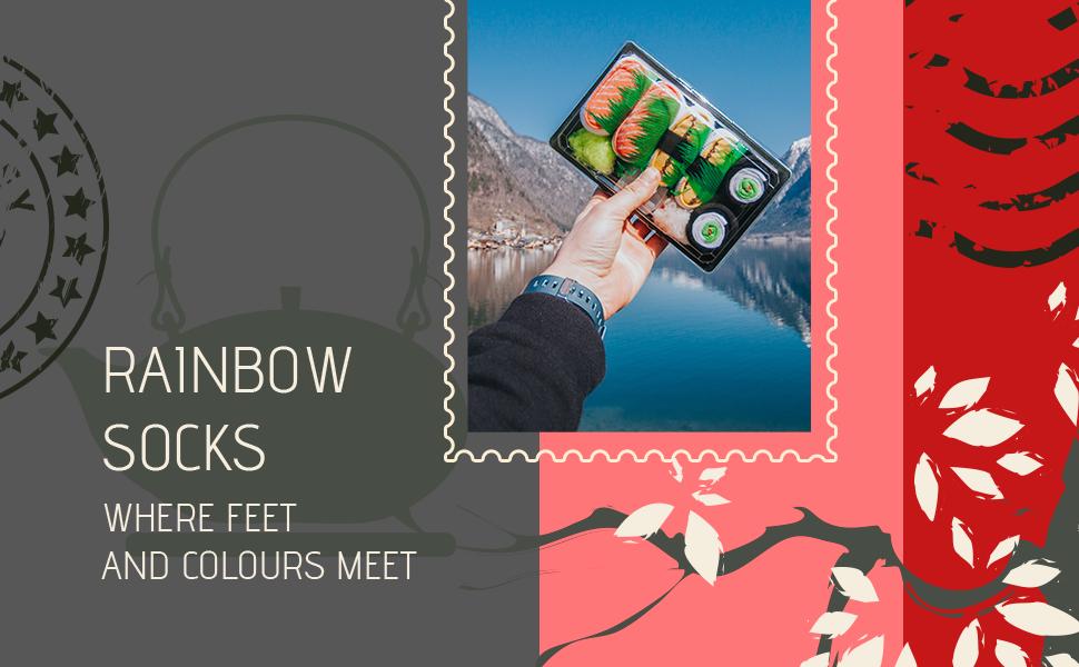 Rainbow Socks. Where feet and colours meet