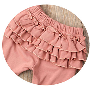 baby ruffle pants Ruffle Dress Side Princess Style pants Dress Infant Sunsuit Playsuit 18-24 Months